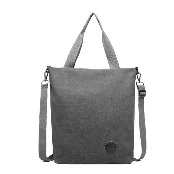 E1965-KONO LARGE CANVAS UNISEX MESSENGER BAG - GREY