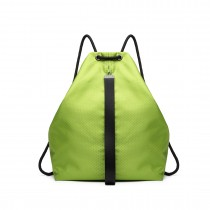 E1966 - KONO MULTI DOSTĘP DRAWSTRING BACKPACK- GREEN