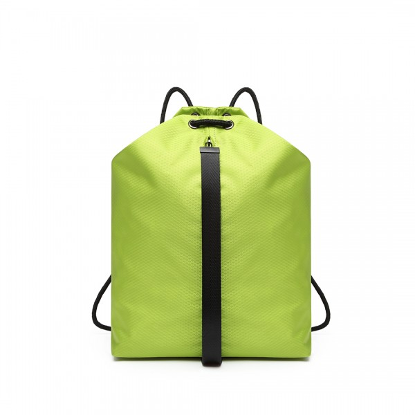 E1966 - KONO MULTI ACCESS DRAWSTRING BACKPACK - GREEN