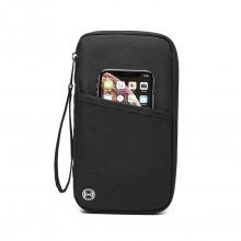 E1968 - Kono RFID-Blocking Travel Wallet - Black