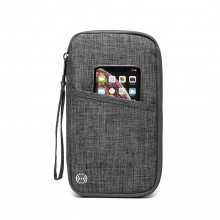 E1968 - Kono RFID-Blocking Travel Wallet - Grey
