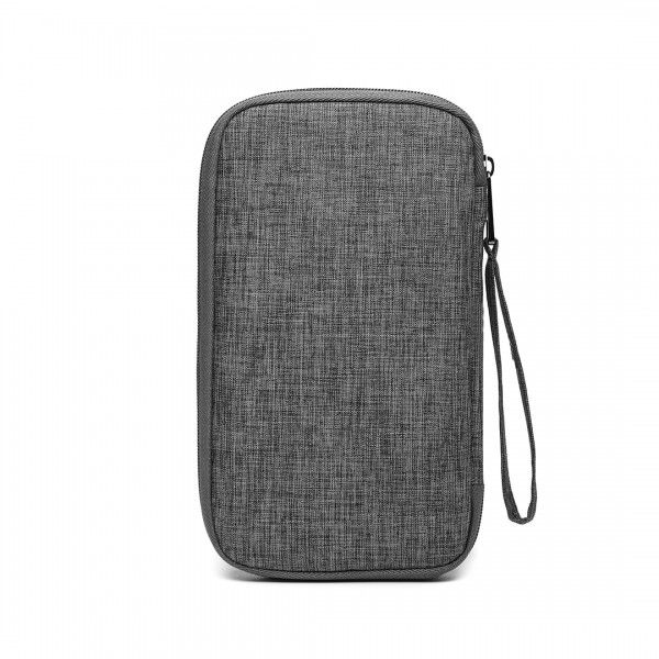 E1968 - Kono RFID-Blocking Travel Wallet - Grau
