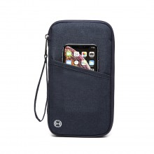 E1968 - Kono RFID-Blocking Travel Wallet - Navy