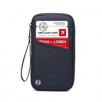 E1968 - Cartera de viaje con bloqueo RFID de Kono - Azul marino