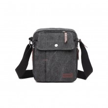 E1971 - KONO MULTI POCKET CROSS BODY SCHULTERTASCHE - SCHWARZ