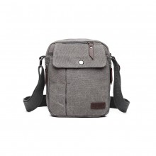 E1971 - KONO MULTI POCKET CROSS BODY SCHULTERTASCHE - GRAU