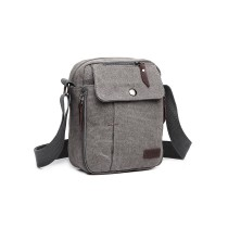 E1971 - KONO MULTI POCKET CROSS CIAU SHULDER BAG- GRY
