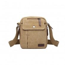 E1971 - KONO MULTI POCKET CROSS BODY SCHULTERTASCHE - KHAKI