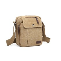 E1971 - KONO MULTI POCKET CROSS CIAU SHULDER BAG- KHAKI