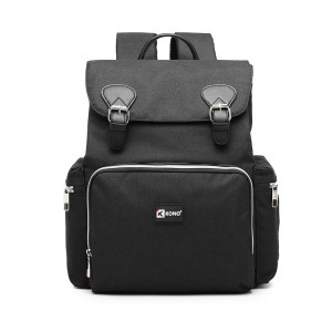 E1976 - Mochila Kono Travel Baby Changing con interfaz de carga USB - Negro