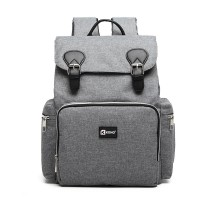 E1976 - Mochila Kono Travel Baby Changing con interfaz de carga USB - Gris