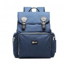 E1976 - Sac à dos à langer Kono Travel pour bébés avec interface de chargement USB - Marine