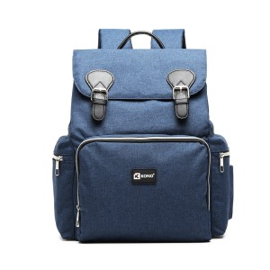 E1976 - Kono Travel Baby Changing Backpack with USB Charging Interface - Navy