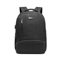 E1978 --Kono Multiple Compartiment Backpack cu conectivitate USB --Black