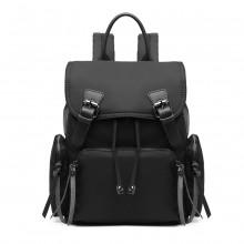 E1979 - Sac à dos en nylon Kono Satchel Style - Noir