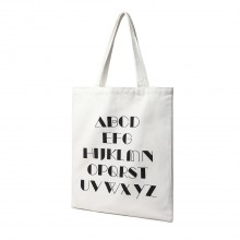 E2006 - Kono Toile Alphabet Cabas Shopper - Blanc naturel