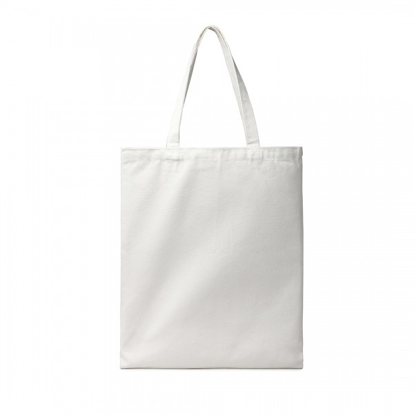 E2006 - Kono Canvas Alphabet Shopper Tote Bag - Natural/White