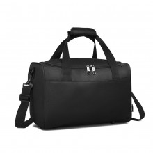 E2016 - Kono Structured Travel Duffle Bag - Black