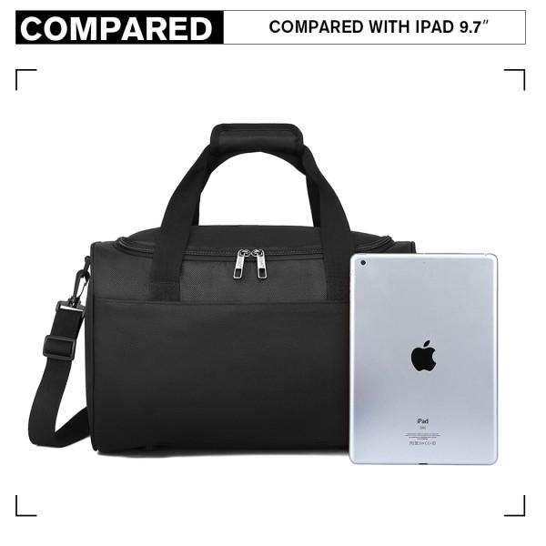 E2016 - Kono Structured Travel Duffle Bag - Black