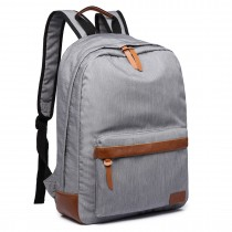 E6602 -Miss Lulu Waterproof Backpack School Bag /Outdoor Travel Rucksack Grey
