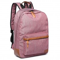 E6602 -Miss Lulu Waterproof Backpack School Bag /Outdoor Travel Rucksack Pink