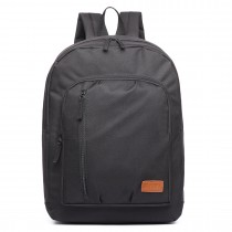 E6612- Kono Casual Laptop Backback School Rucksack black
