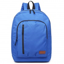 E6612 - Kono Casual Laptop Backpack School Rucksack Blue