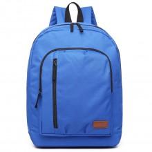 E6612 - Kono Casual Laptop Backpack School Rucksack Blue