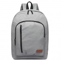 E6612 - Kono Casual Laptop Backpack School Rucksack Grey