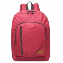 E6612 - Kono Casual Laptop Backpack School Rucksack Red