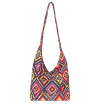 E6630- Miss Lulu Ladies Cotton Canvas Hippie Hobo Shoulder Bags Grey