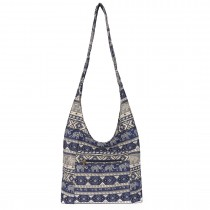 E6630- Miss Lulu Ladies Cotton Canvas Hippie Hobo Shouder Bags Navy