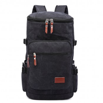 E6643 - Multifunctional 45L Outdoor / Hikking / Casual Canvas Backpack black
