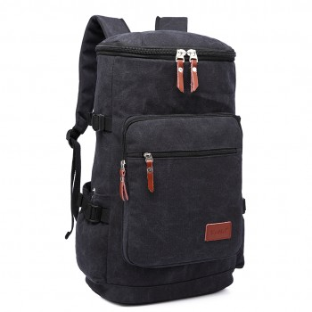 E6643 - Kono Multifunctional 45L Outdoor / Hikking / Casual Canvas Backpack black
