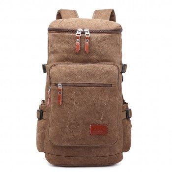 E6643 - Kono Multifunctional 45L Outdoor / Hikking / Casual Canvas Backpack brown