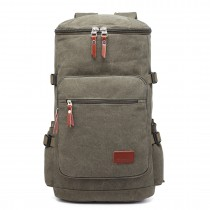 E6643 - Multifunctional 45L Outdoor / Hikking / Casual Canvas Backpack green