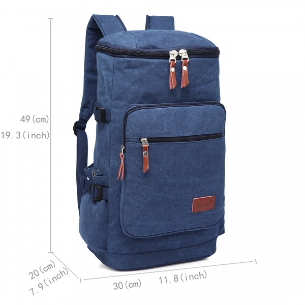 E6643 - Kono Multifunctional 45L Outdoor / Hikking / Casual Canvas Backpack navy