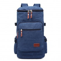 E6643 - Multifunctional 45L Outdoor / Hikking / Casual Canvas Backpack navy