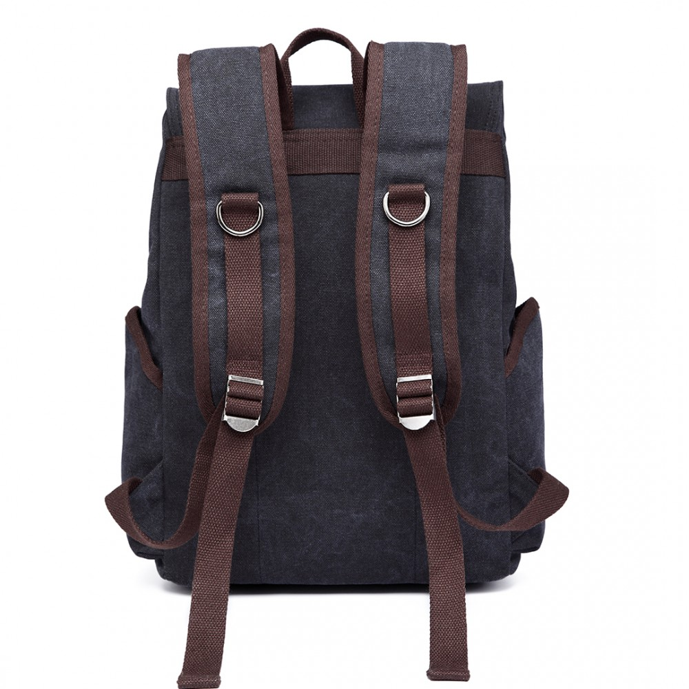 E6644 kono vintage canvas backpack school casual for Outdoor rucksack