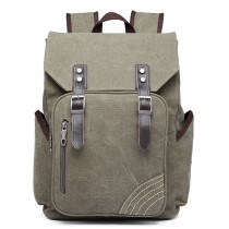 E6644- Vintage Canvas Backpack School / Casual / Outdoor Rucksack  green