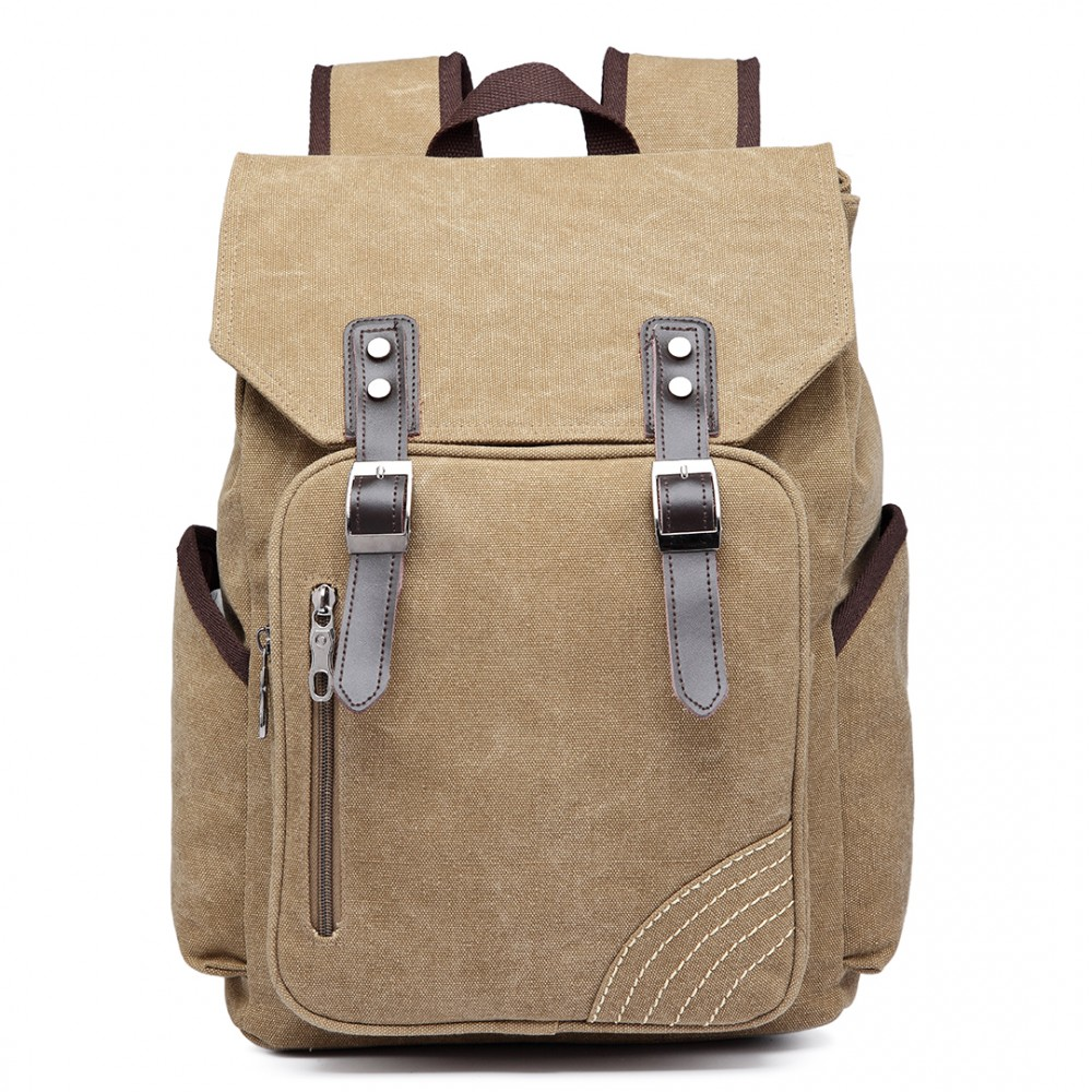 e6644 kono vintage canvas backpack school casual. Black Bedroom Furniture Sets. Home Design Ideas