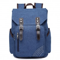 E6644 - Kono Vintage Canvas Backpack School / Casual / Outdoor Rucksack navy