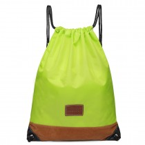 E6645 - Kono Unisex Drawstring Sport Backpack Plain Green