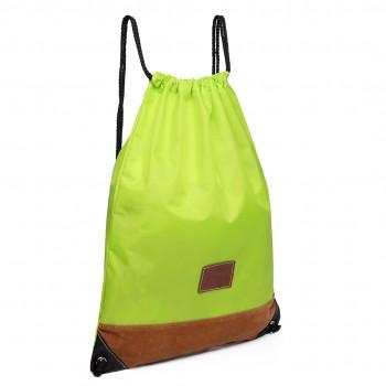 E6645 - MISS LULU UNISEX DRAWSTRING BACKPACK School PE Gym Work Rucksack Bag green