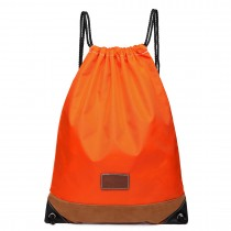 E6645 - Kono Unisex Drawstring Sport Backpack Plain Orange