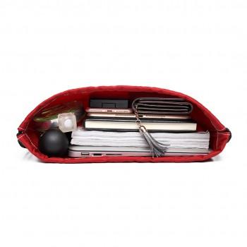 E6645 - MISS LULU UNISEX DRAWSTRING BACKPACK School PE Gym Work Rucksack Bag red