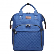 E6705 - Kono Wide Open Designed Baby Windel Wickelrucksack - Blau