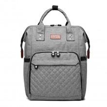 E6705 - Kono Wide Open Designed Baby Windel Wickelrucksack - Grau