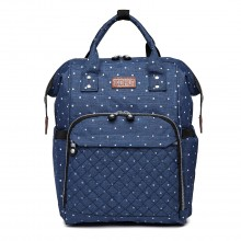 E6705D2 - Kono Wide Open Designed Baby Windel Wickelrucksack Dot - Navy