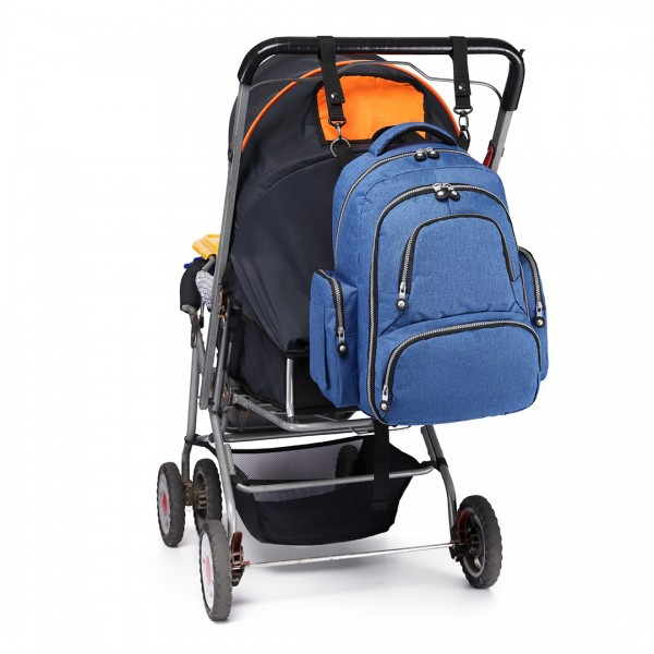E6706-Miss Lulu Large Capacity Multi Function Baby Diaper Backpack Blue